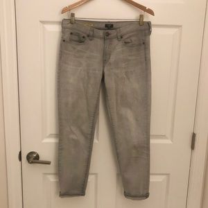 J.Crew Toothpick Light Gray Denim Pants - Size 30